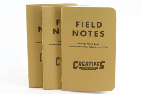 Customized Creatives Go West Field Notes