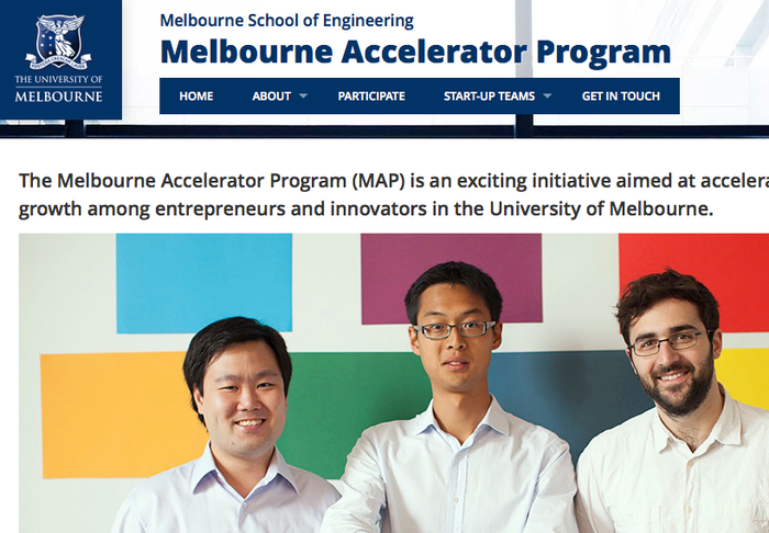By the start of 2013, we'd done enough to get accepted into the Melbourne Accelerator Program.