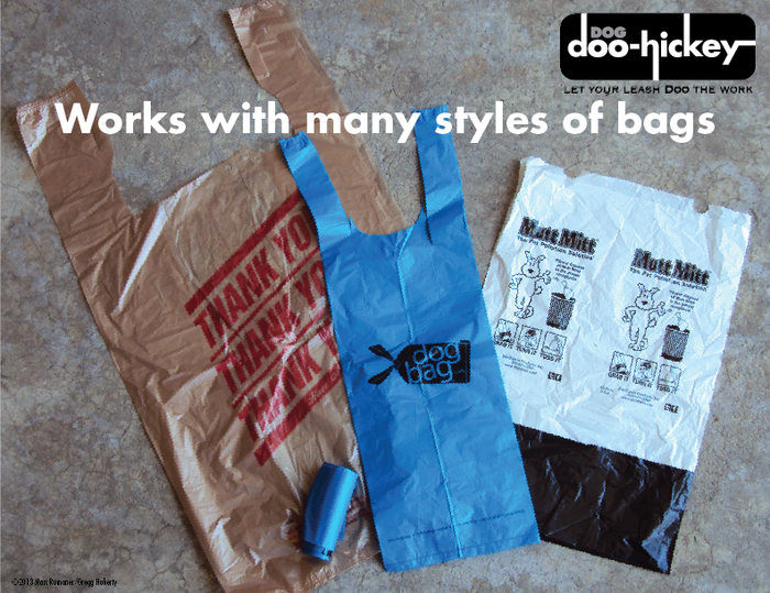 Sample of dog doo bags
