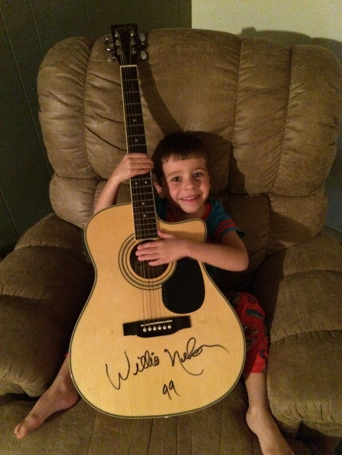 My Sigma/Martin Autographed by Willie Nelson