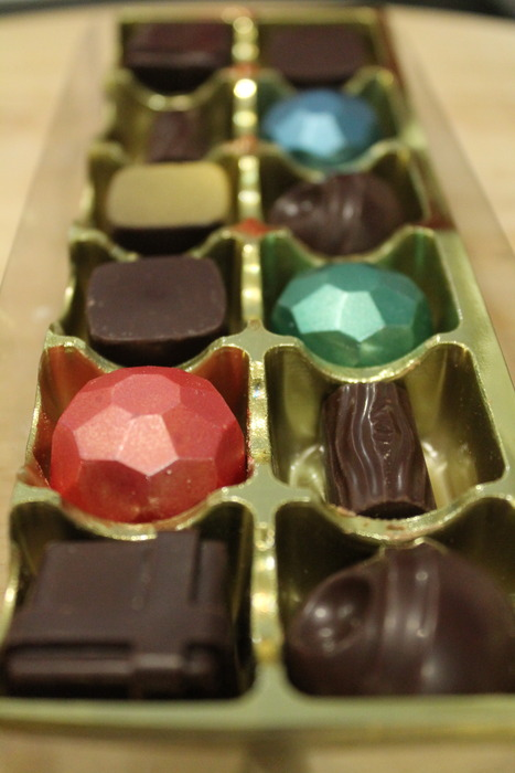 A boxed selection of our chocolates