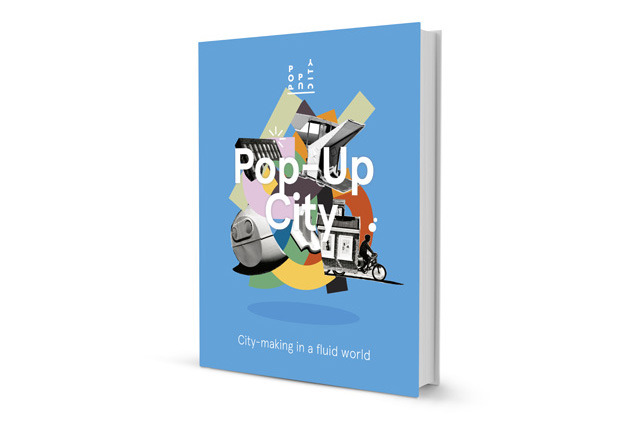 First version of the Pop-Up City book cover (design by Studio Vruchtvlees)