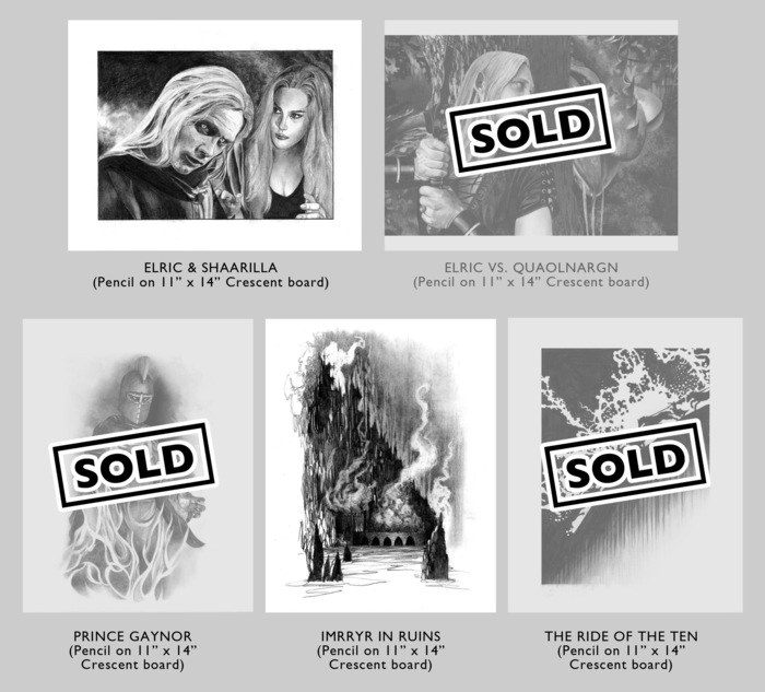 (above) Original Art Selections Available at the ELRIC CUATRO level