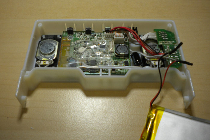 Bluetooth printed circuit board with 4 buttons at the back of the unit