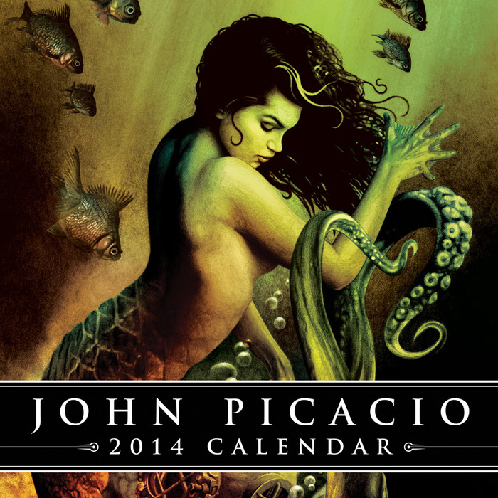 Cover art & design for the 2014 John Picacio Calendar