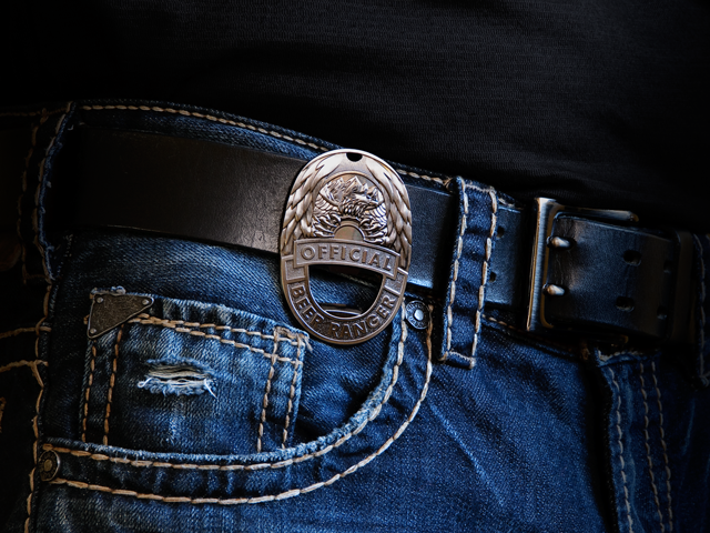 Clip the badge to your belt like a pro when you're out in the field.