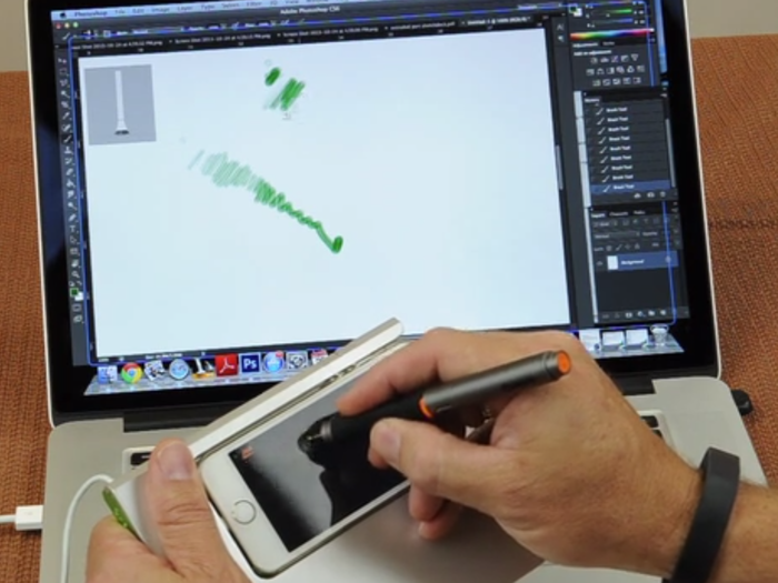 SketchDock Transforms Your iPhone into a Graphics Tablet - See Video in Update 2 - Holding it up off desk to demonstrate