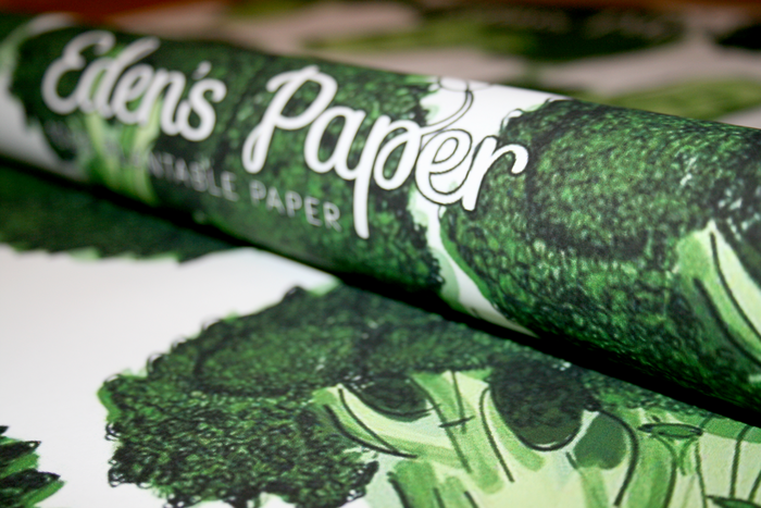 Broccoli Wrapping Paper Example