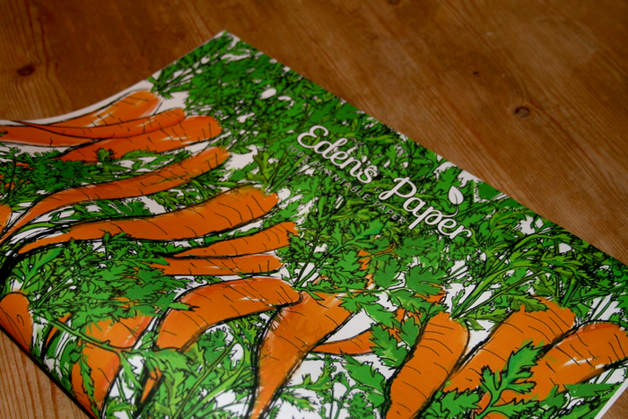 Carrot Wrapping Paper Example