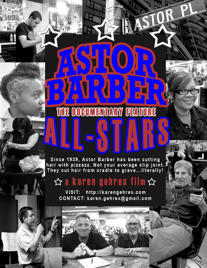 Saturday screening at Astor Barber!