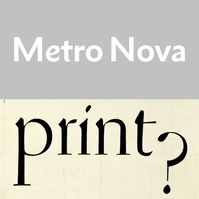 June . William Addison Dwiggins . Metro Nova by Toshi Omagari