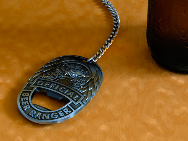 Chain the badge down to the bar or cooler to ensure it stays put.