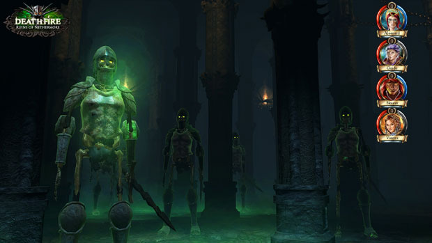 Skeleton Warriors inside the Apocryphic Temple [Click to enlarge]