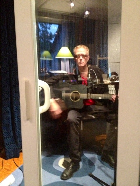 David J in the studio working on 'An Eclipse of Ships'