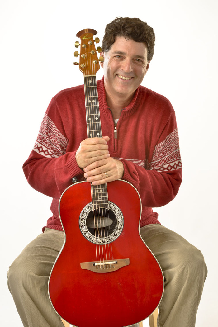 Phil Baker and his Red Guitar