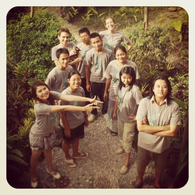 The Puzzlebox Art Studio team (in 2011) in Mae Sot, Thailand.