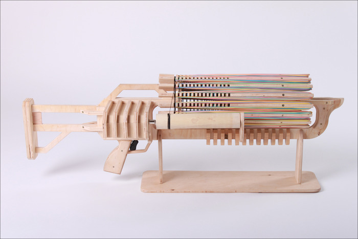 Rubber Band Machine Gun With Unique Fast Charger By Alex