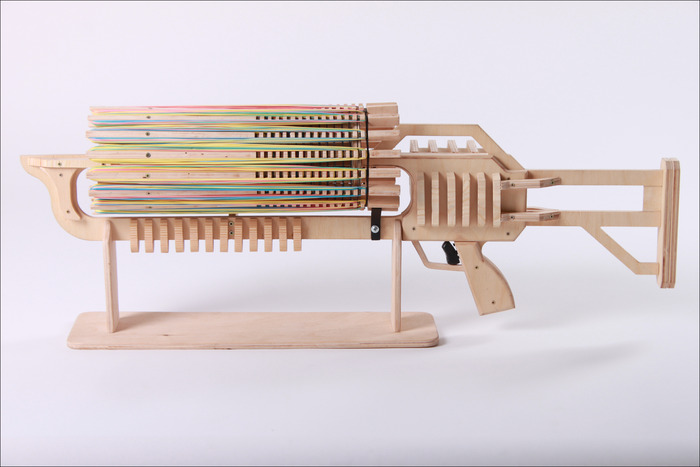 rubber band machine gun plans free