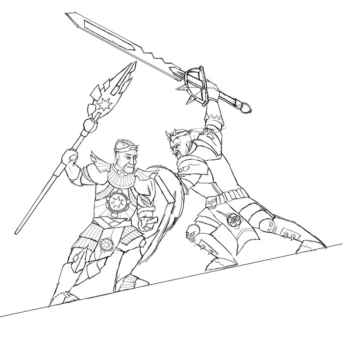 sketch of Kings duel cover art