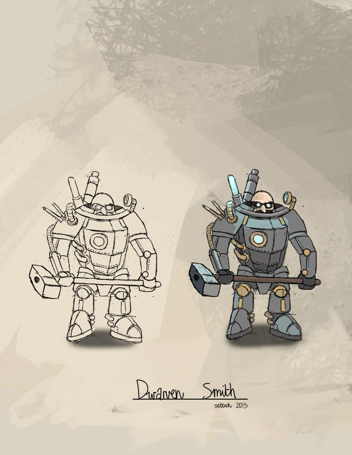 Dwarven Smith concept art