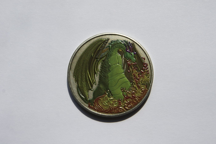 Color Fire Dragon Coin - Add On Item