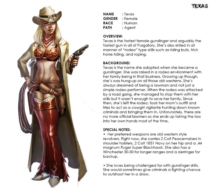 Texas, the Gunslinging Cowgirl