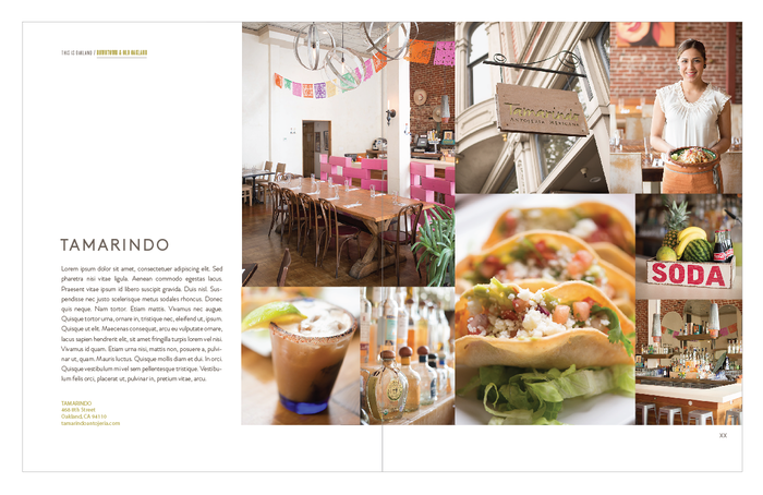 Tamarindo layout with dummy text