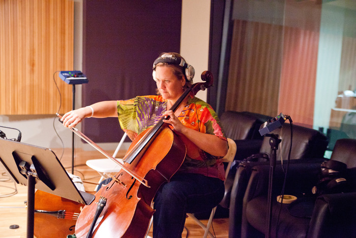 recording a haunting cello line for August 20, 1804