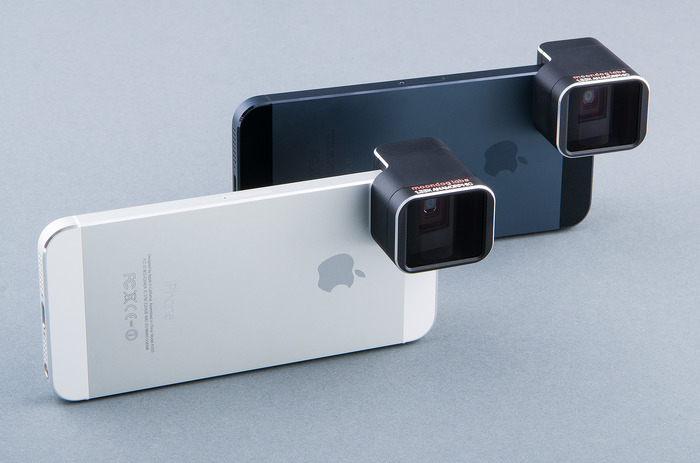 Our third-generation protoypes shown on the iPhone 5S and iPhone 5