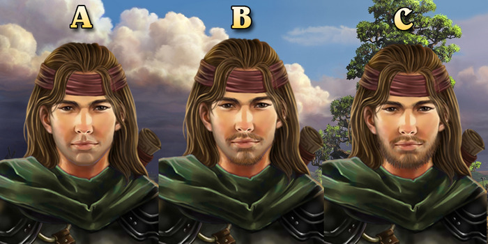 Different portrait variations for Gaulen the Explorer from Lords of Xulima.