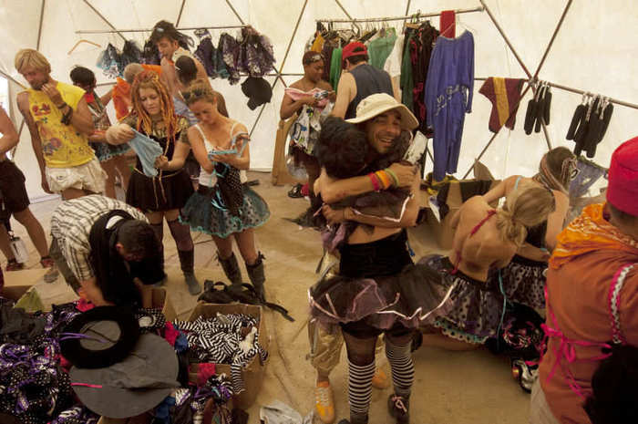 A costume tent at Burning Man. Photo by Layne Kennedy