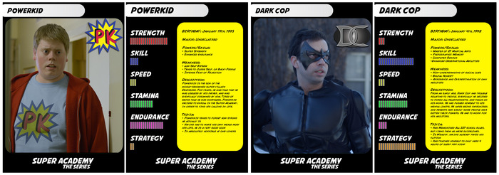 A sample of two of our 6 Trading Cards. Design may vary from final version.