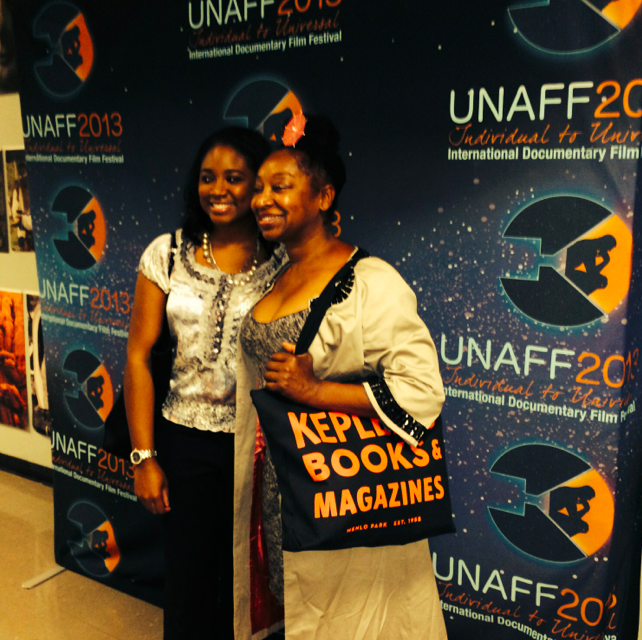 Chelsi and Aleta from the choir at the UN Association Film Festival