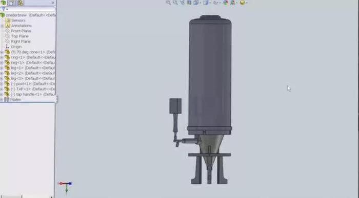 Cad Drawing for Canister and Cone Assembly
