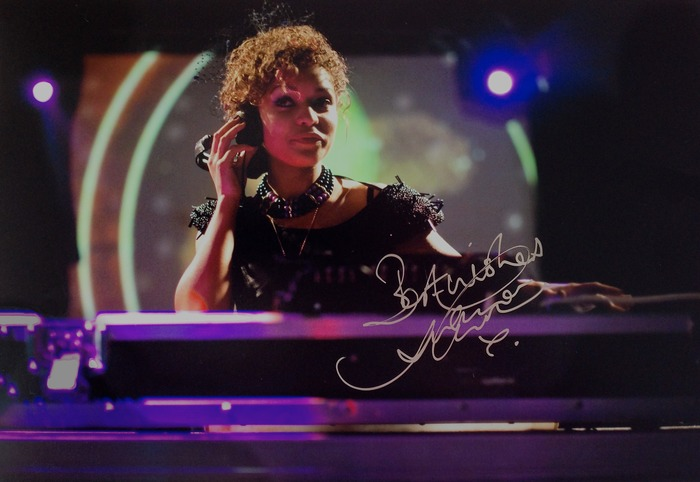 Antonia Thomas as Adrienne. Example of limited edition signed stills.