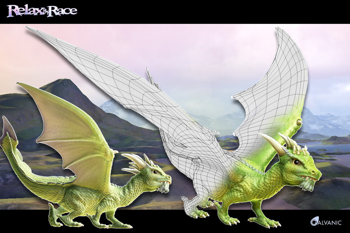 Relax & Race Dragons with Wireframe