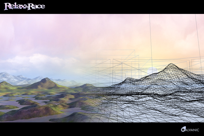 Relax & Race Landscape with Wireframe