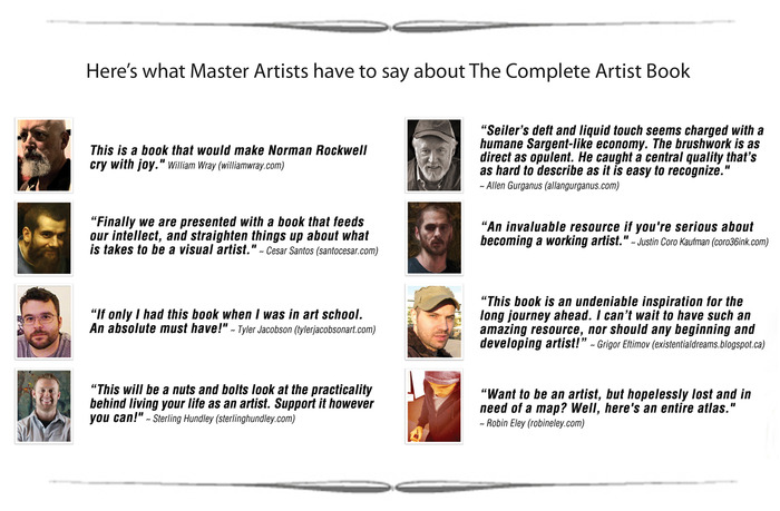 The Complete Artist Book Testimonials