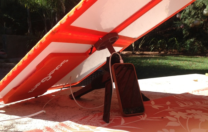 Table Top Support with Shade to Keep Your Mobile Device Cool