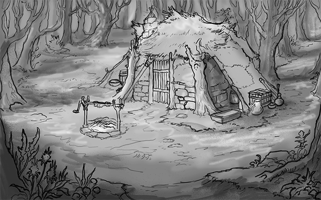 Who resides at this mysterious forest camp?