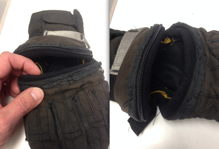 Fleece gaskets come together with the zipper to keep out any cold air.