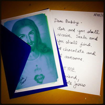 Your very own Note from Chocolate Jesus!