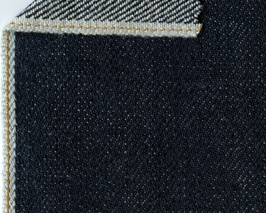 HEAVY ORIJEANS AMERICANA - 16.7 oz, 100% cotton - dark indigo golden selvedge denim  from Cone Mill (North Carolina, USA).