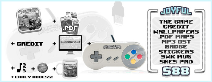 Grab a SNES style replica PC USB joypad, this helps bring the memories flooding back! PLUS *Pit Crew* member status!