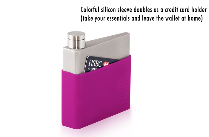 Silicone sleeve works as a wallet for credit cards and cash