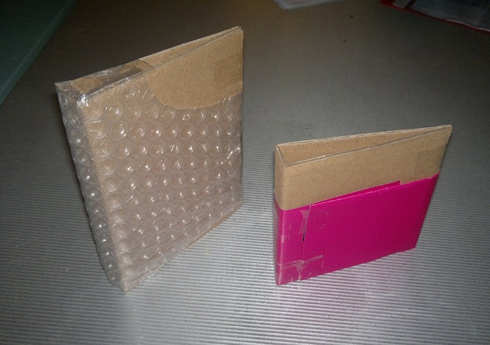 We started with simple cardboard mockups