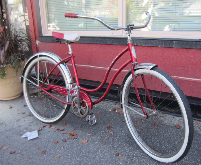 REWARD #13 1950'S SCHWINN BICYCLE AND A COPY OF THE VANCOUVER BICYCLE
