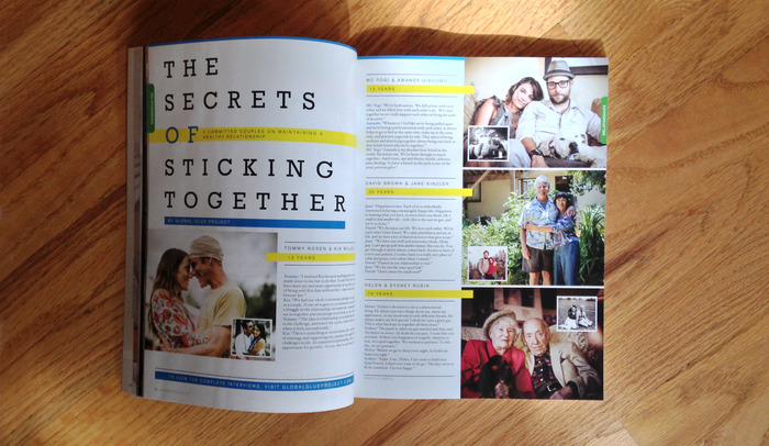 "Global Glue Project's ""The Secrets of Sticking Together"" column in the current issue of ORIGIN."