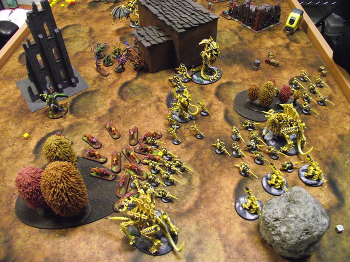 """Blast Zone"" Mega Mat in action! Please note, miniatures and terrain are shown for demonstration purposes only and are not included."