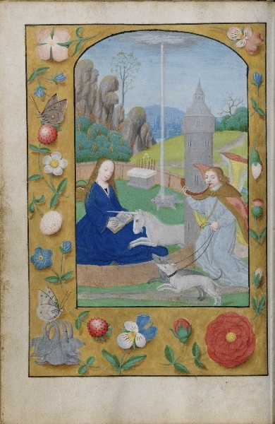 Proto-Snaak? -Hunt of the Unicorn Annunciation (circa 1500)